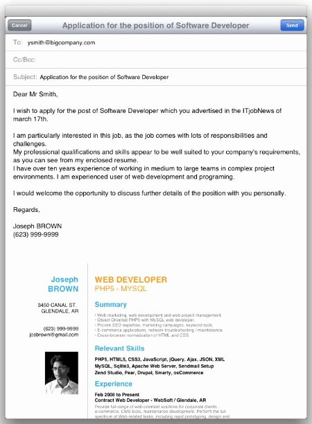 Email Resume Cover Letter Lovely Cover Letter Email Tags How Send Resume Body