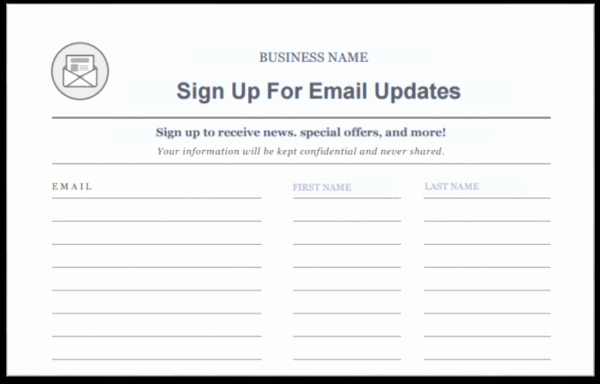 Email Sign In Sheet Awesome 15 Creative Ways to Grow Your Email List