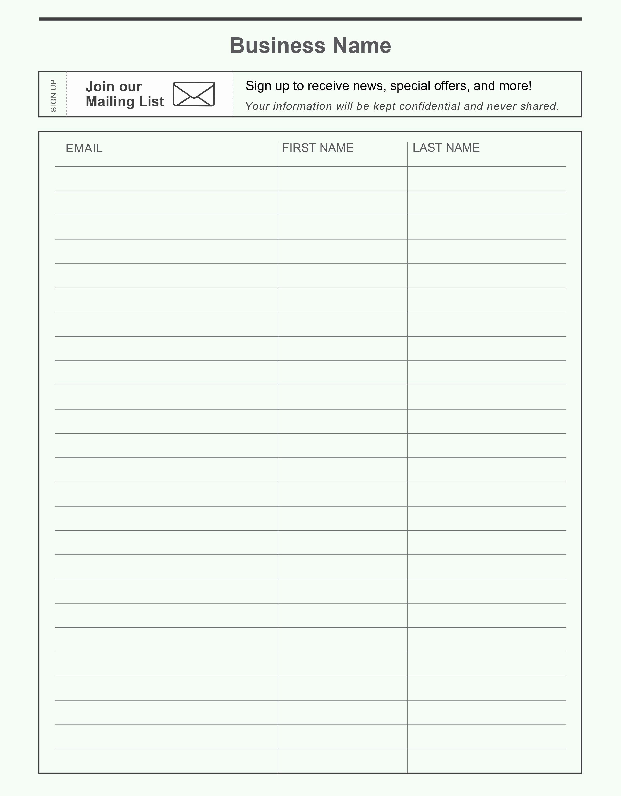 Email Sign In Sheet Awesome Pin by Constant Contact On Grow Your Email List