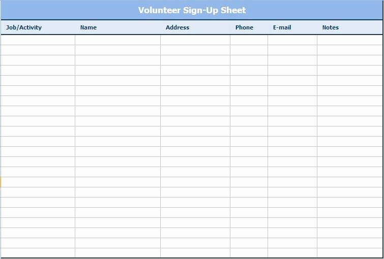 Email Sign In Sheet Unique Email Sign Up Sheet