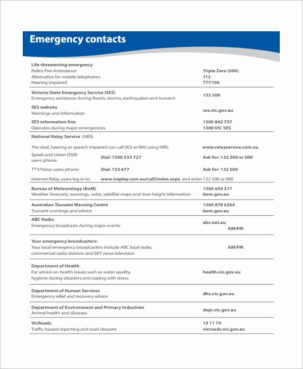 Emergency Action Plan Sample Inspirational Sample Emergency Action Plan 11 Free Documents In Word Pdf