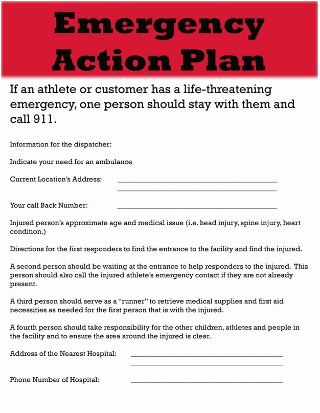 Emergency Action Plan Sample Lovely Sample Project Emergency Action Plan Template Doc