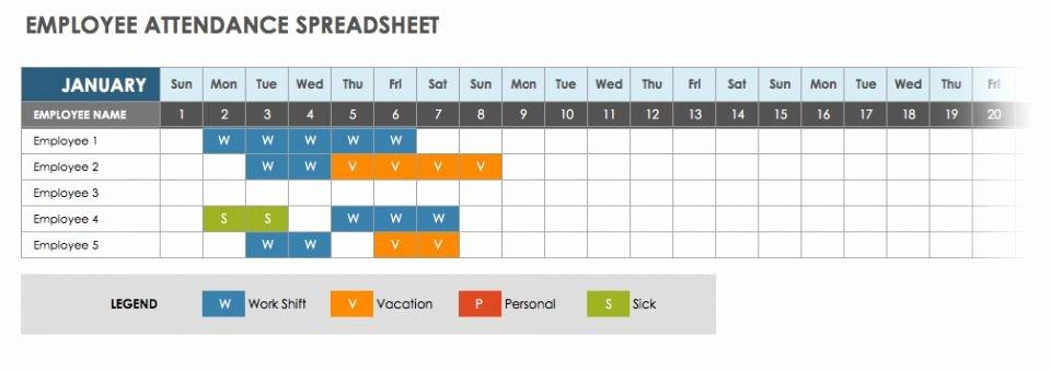 Employee Absence form Template Awesome 2019 Employee attendance Calendar Sheet Excel Template