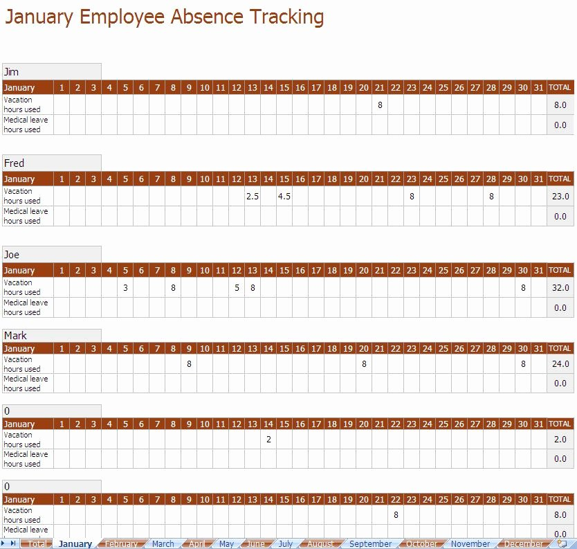 Employee Absence form Template Beautiful You Can Use A Employee Absence Tracking Excel Template to