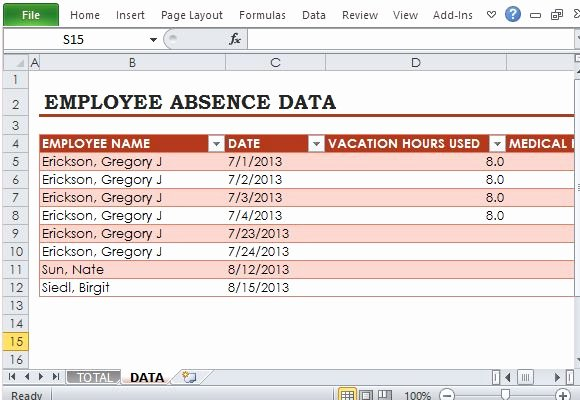 Employee Absence form Template Best Of Free Employee Absence Tracker for Excel