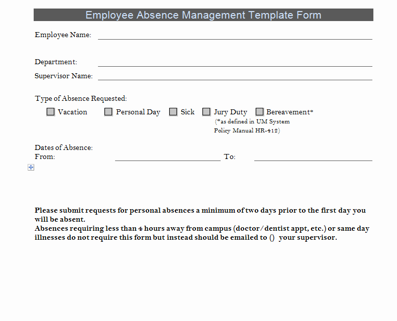 Employee Absence form Template Luxury Professional Project Timeline Template Excel