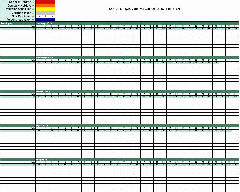 Employee Absence form Template New Absence Tracking Excel Template