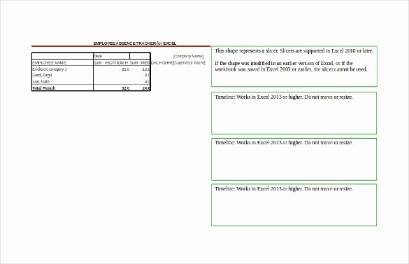 Employee Absence form Template Unique Employee Tracking Template – 10 Free Word Excel Pdf
