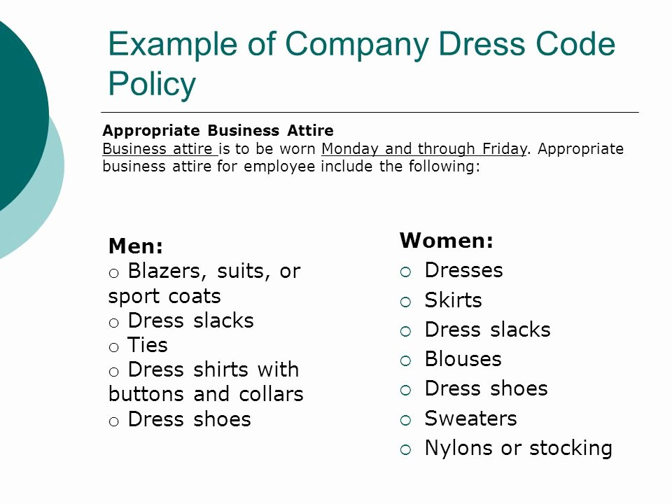 Employee Dress Code Policy Sample Awesome Sample Employee Uniform Policy Other Dresses Dressesss