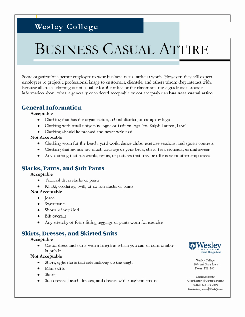 Employee Dress Code Policy Sample New Sample Dress Code Policy Business Casual Phillysportstc