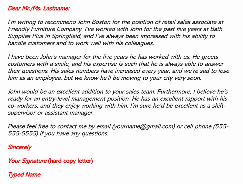 Employee Recommendation Letter Example Best Of Re Mendation Letter for Employment 30 Sample Letters