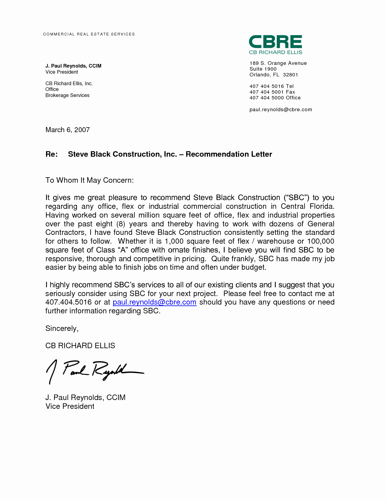 Employee Recommendation Letter Sample Elegant Letter Re Mendation for Employment