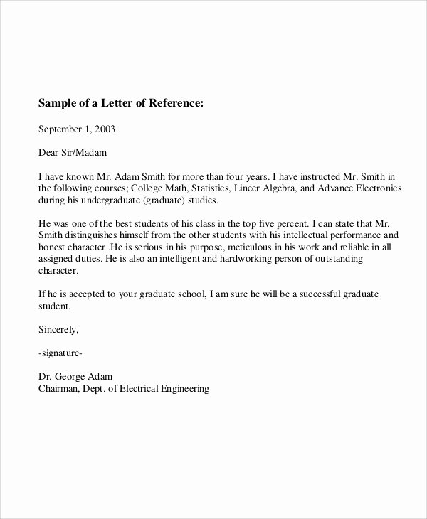 Employee Reference Letter Examples Lovely 6 Sample Employee Re Mendation Letter Free Sample