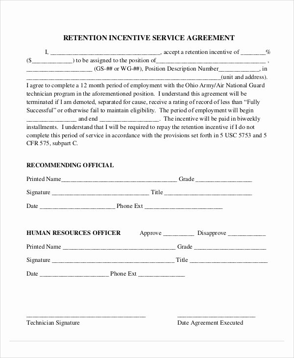 Employee Relocation Agreement Sample Awesome 9 Incentive Agreement Templates Free Sample Example