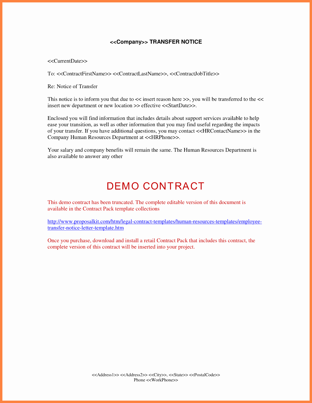 Employee Relocation Agreement Sample Luxury 6 Sample Notice Letter to Employee