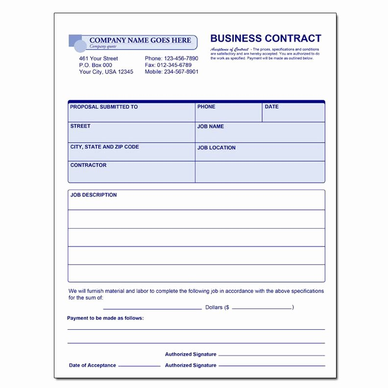Employee Relocation Agreement Sample Unique General Invoice forms & Receipts Carbonless Printing
