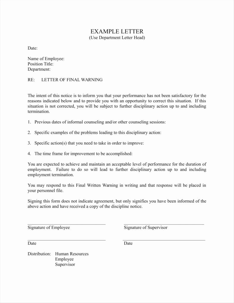 sample final warning letters