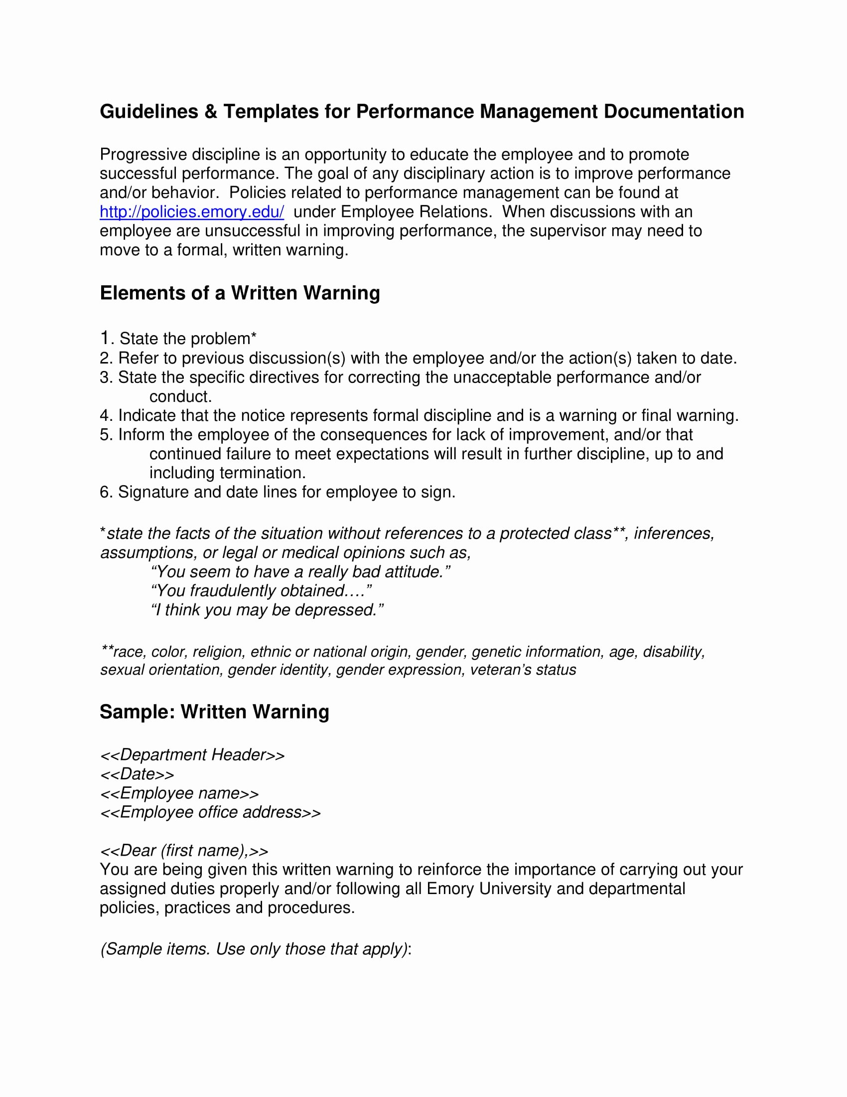 Employee Written Warning Sample Letter New 11 Employee Warning Letter Examples Pdf Google Docs