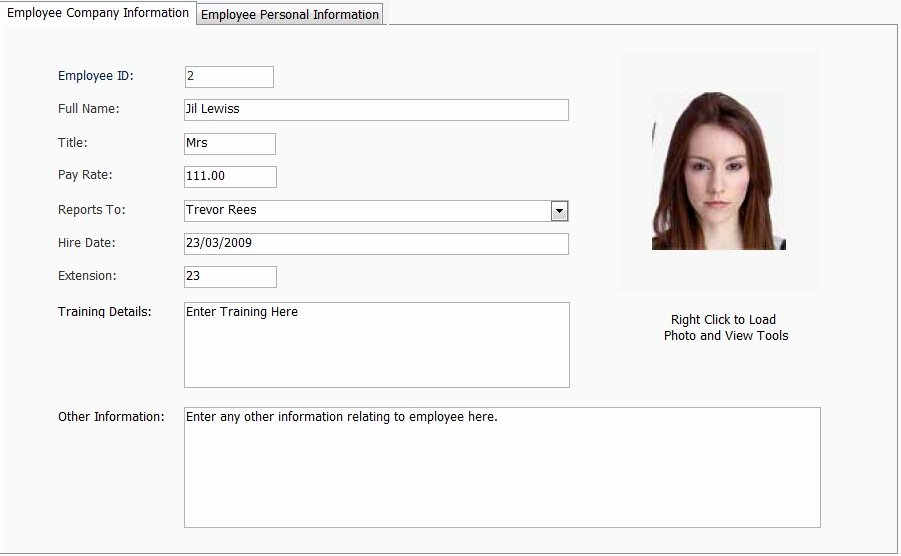 Employees Personal Information form Beautiful Home [ ]