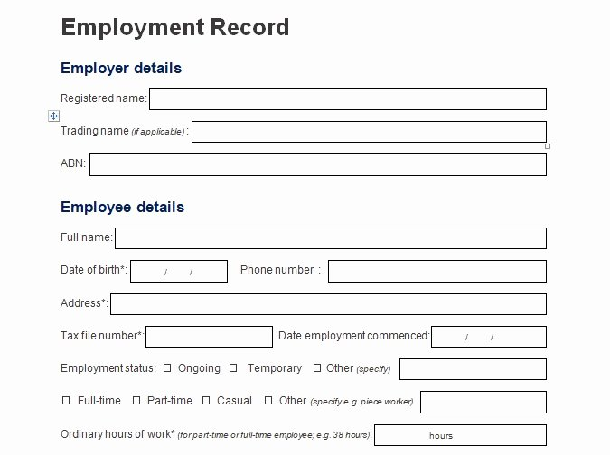 Employment Personal Information forms Luxury Record Of Employee Information form format Word and Excel