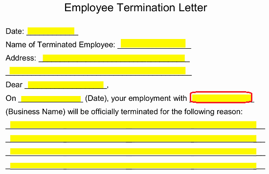 Employment Termination form Template Beautiful Free Employee Termination Letter Template Pdf