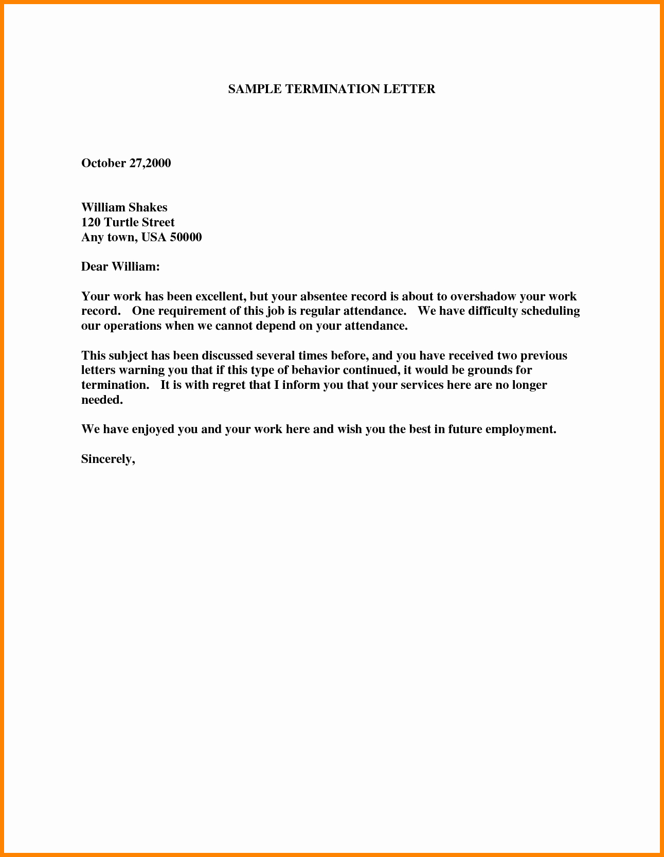 Employment Termination form Template Inspirational 8 Employee Termination Letter Templates