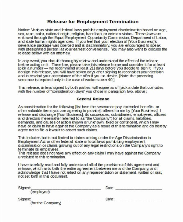 Employment Termination form Template Lovely 18 Employee Termination Templates Word Pdf Excel