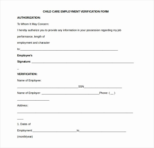 Employment Verification form Samples Beautiful 11 Sample Employment Verification forms