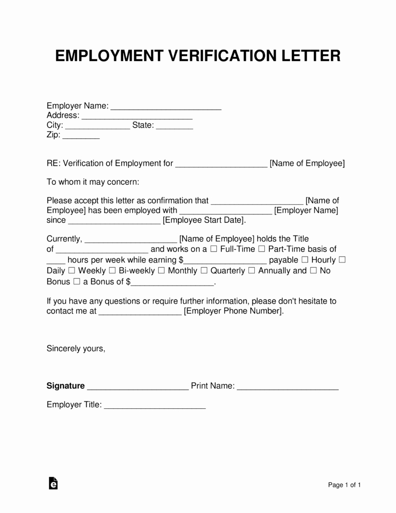 Employment Verification form Samples Best Of Free Employment In E Verification Letter Pdf