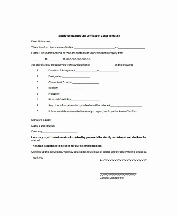 Employment Verification form Samples Fresh 9 Verification Of Employment Letter Examples Pdf