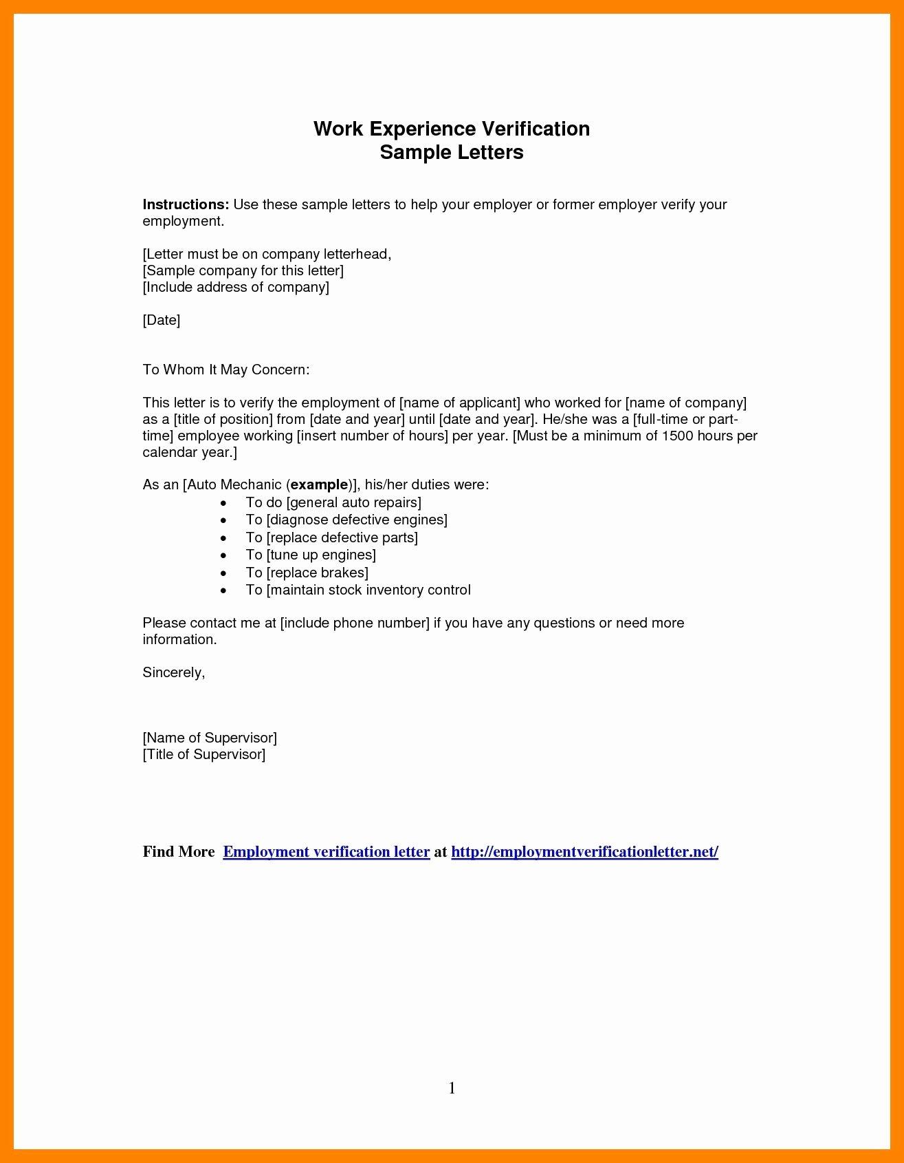 Employment Verification Letter form Beautiful Employment Verification Letter to whom It May Concern