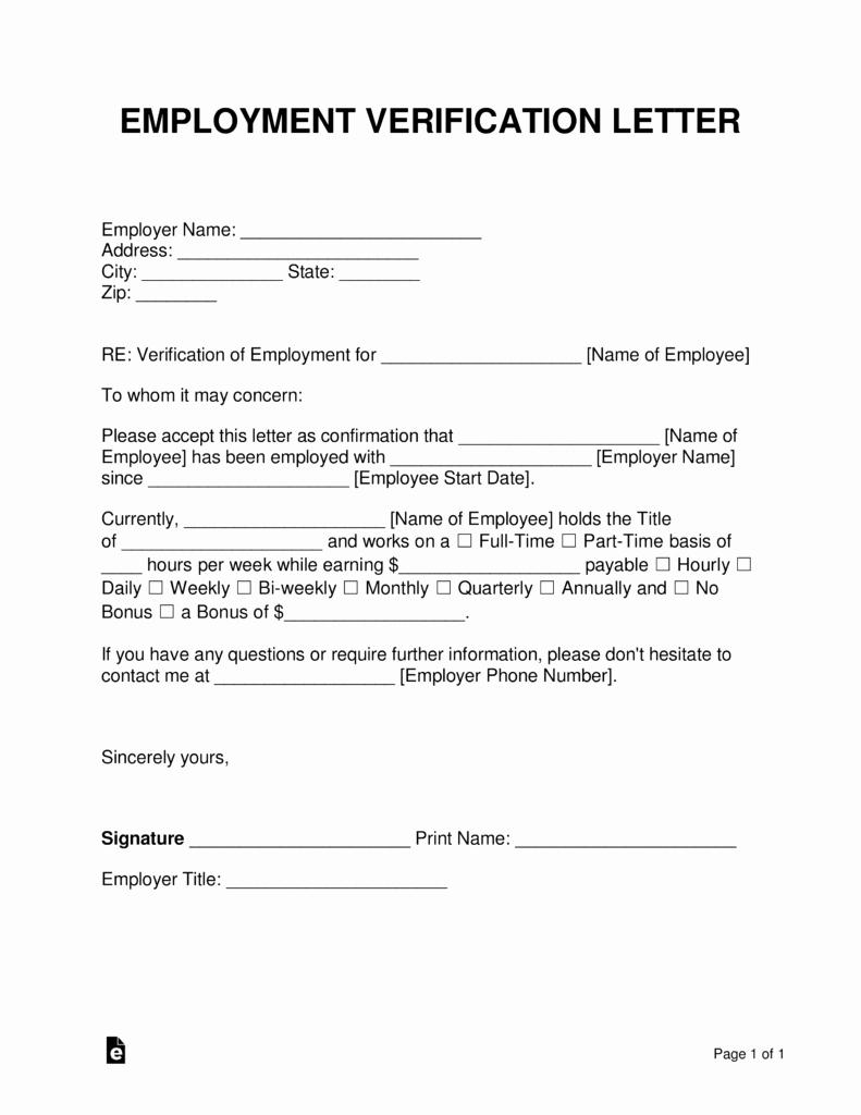 Employment Verification Letter form Best Of Free Employment In E Verification Letter Pdf