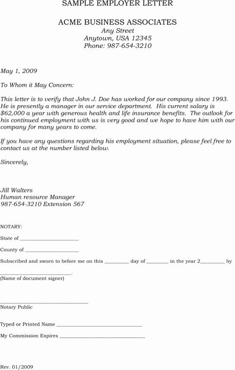 Employment Verification Letter form Fresh Download Sample Employment Verification Letter for Free