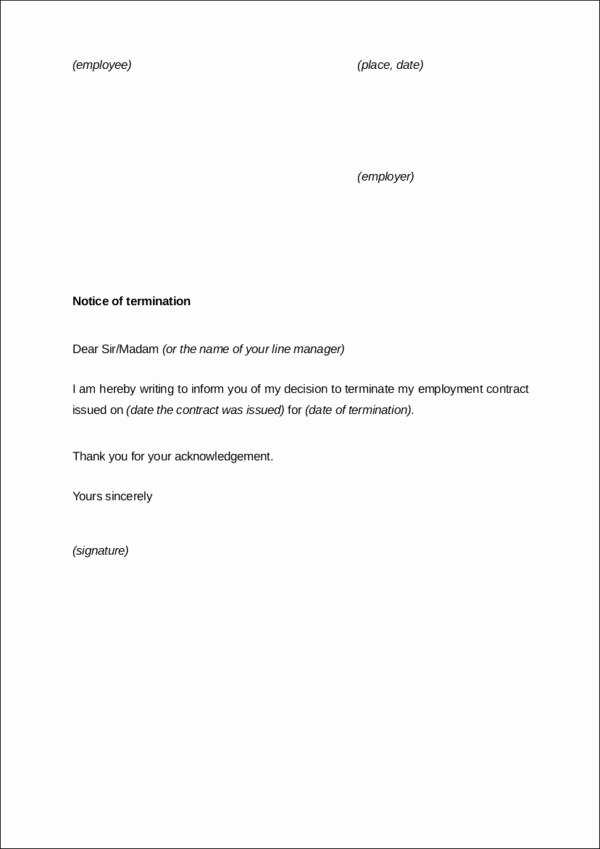 End Of Contract Letter Sample Elegant How to Terminate Contracts In the Workplace