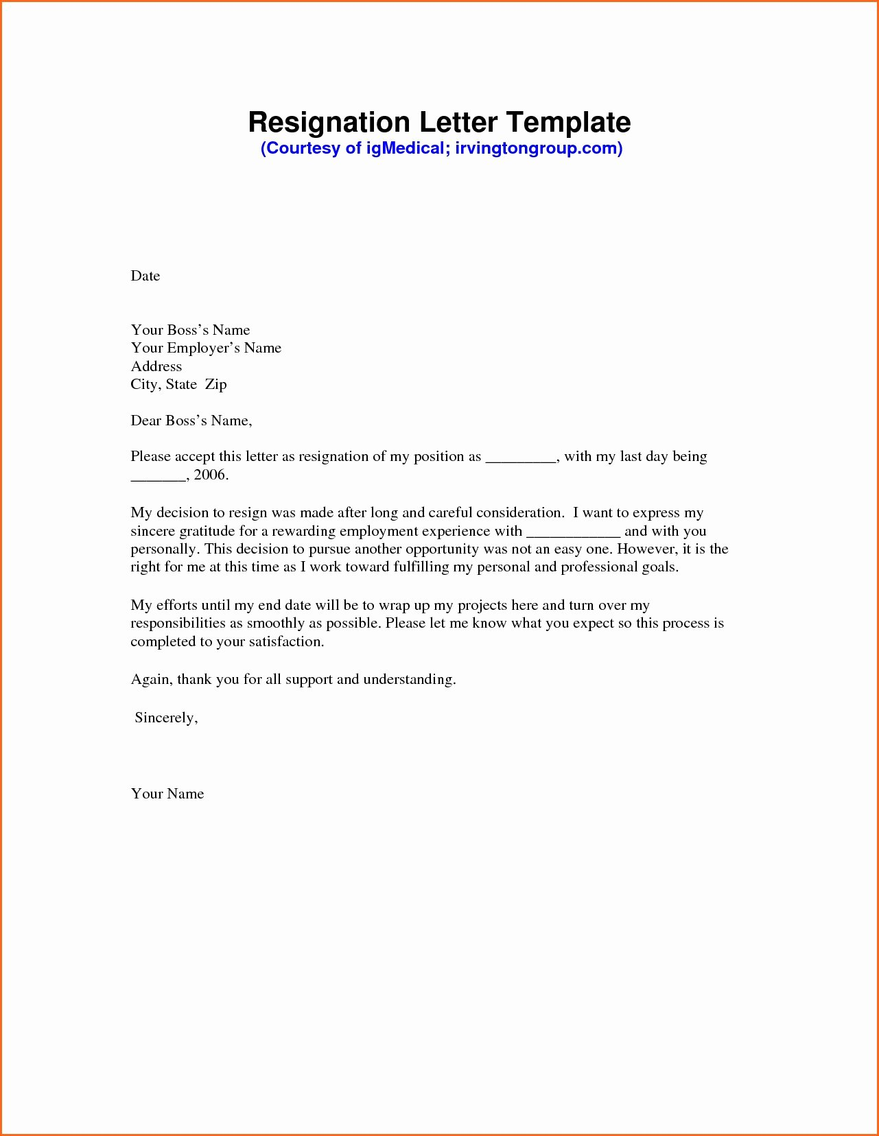 End Of Contract Letter Sample Lovely Valid Resignation Letter Sample End Contract