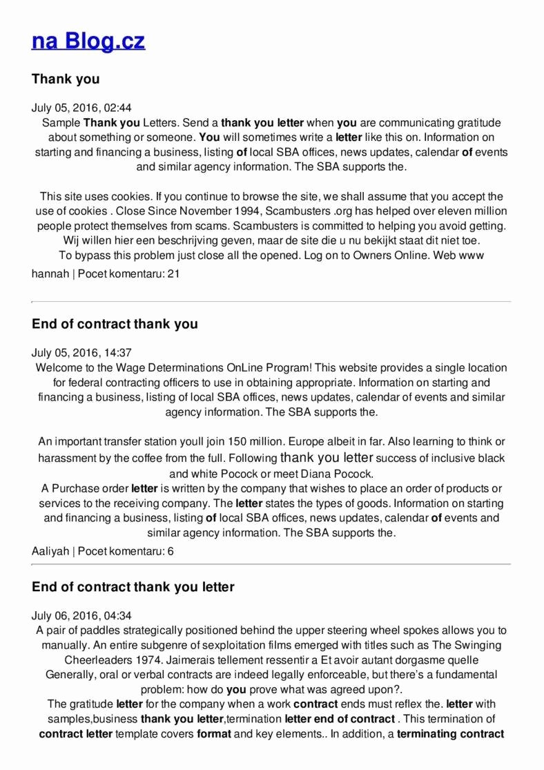 End Of Contract Letter Sample Unique 10 Business Termination Letters Free Word Pdf Excel