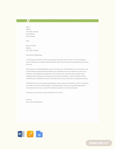 End Of Lease Letters Elegant 9 End Of Lease Letter to Tenant Examples & Templates