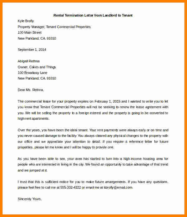 End Of Lease Letters Fresh 5 End Of Lease Letter to Tenant From Landlord