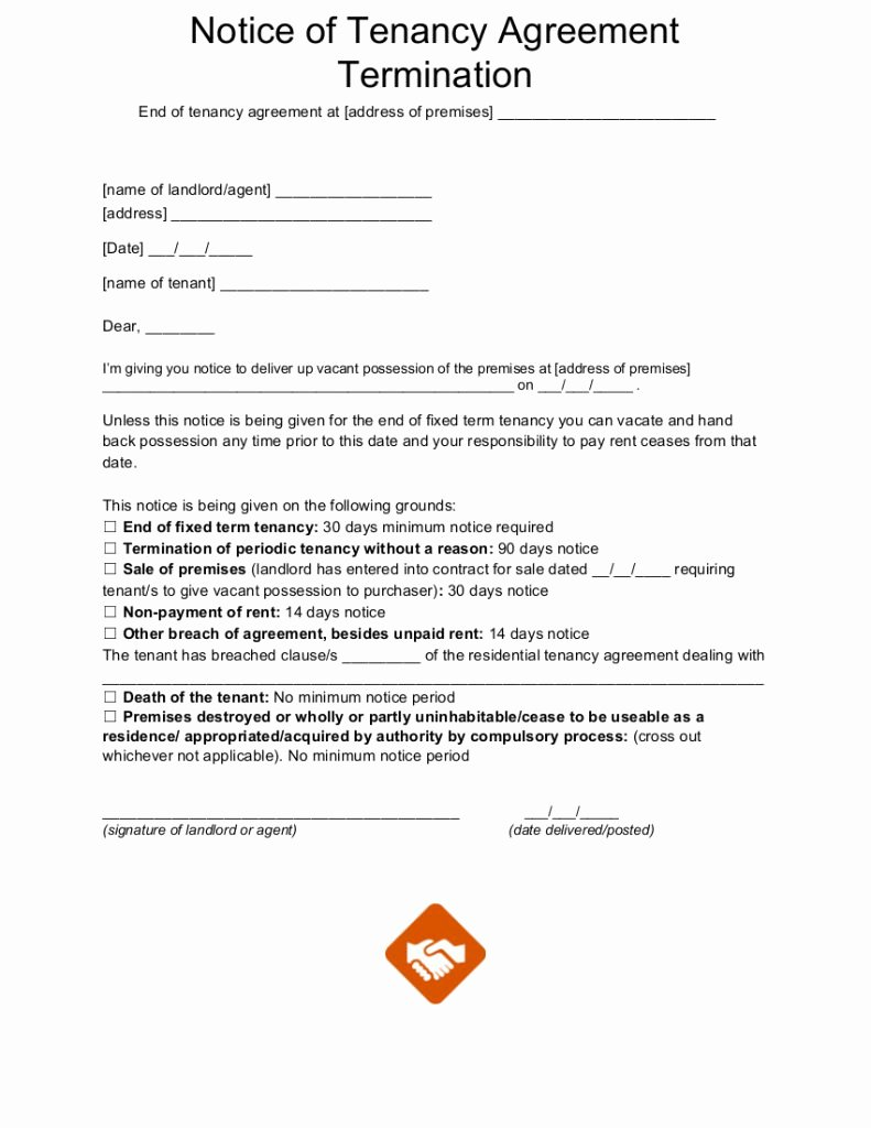 End Of Lease Letters Inspirational End Tenancy Letter Templates