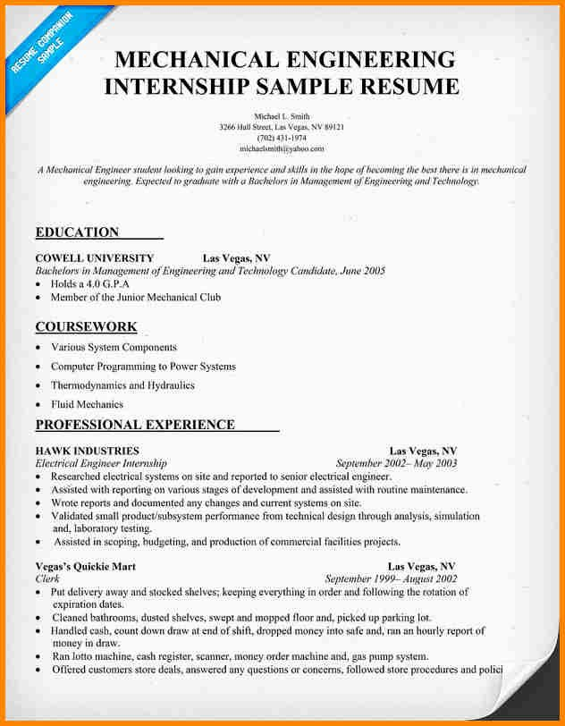 Engineering Student Resume Examples New 7 Engineering Student Resume format Examples