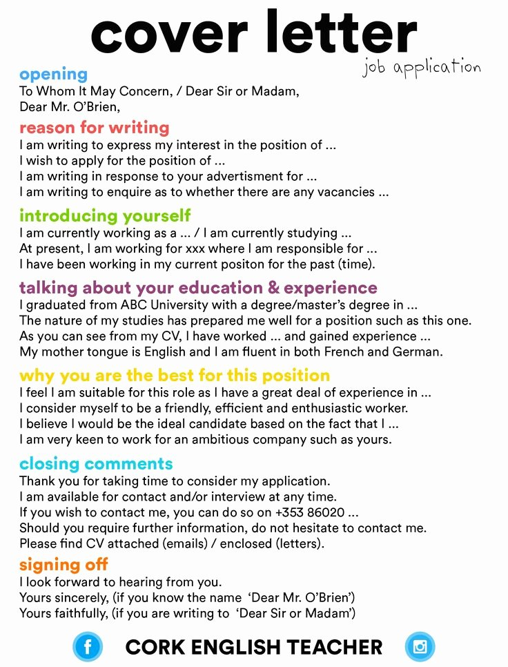 English Teacher Covering Letter New Best 25 Job Application Cover Letter Ideas On Pinterest