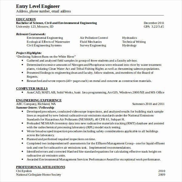 Entry Level Civil Engineer Resume Best Of 50 Modern Resume Templates Pdf Doc Psd