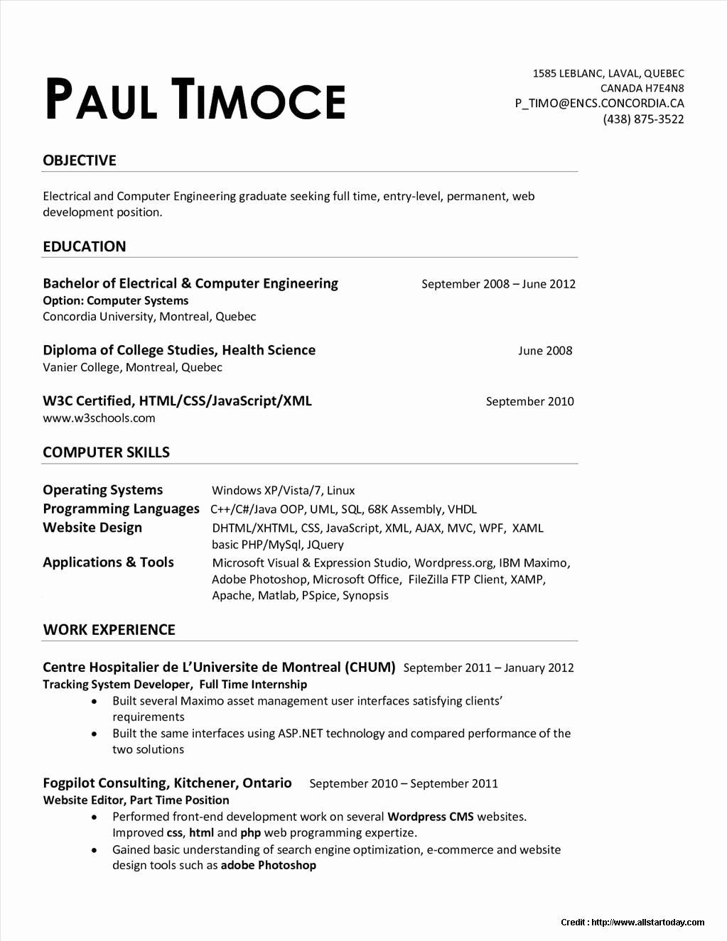 Entry Level Civil Engineer Resume Lovely Entry Level Mechanical Engineering Resume Electrical