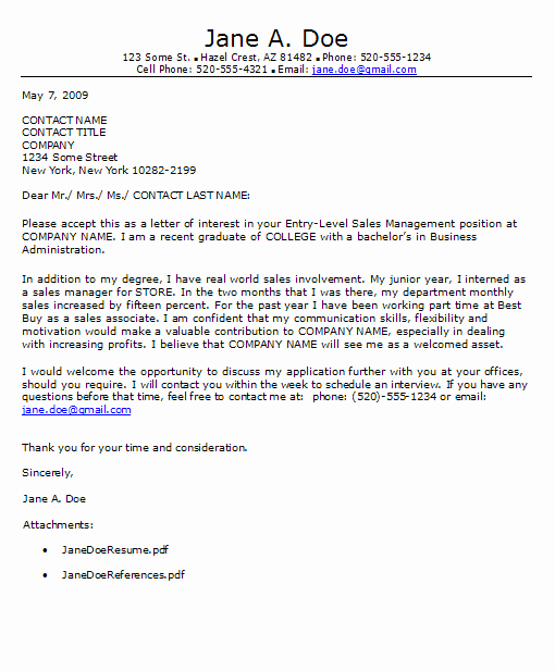 Entry Level Cover Letter Example Unique Entry Level Cover Letter – Don't for these Tips