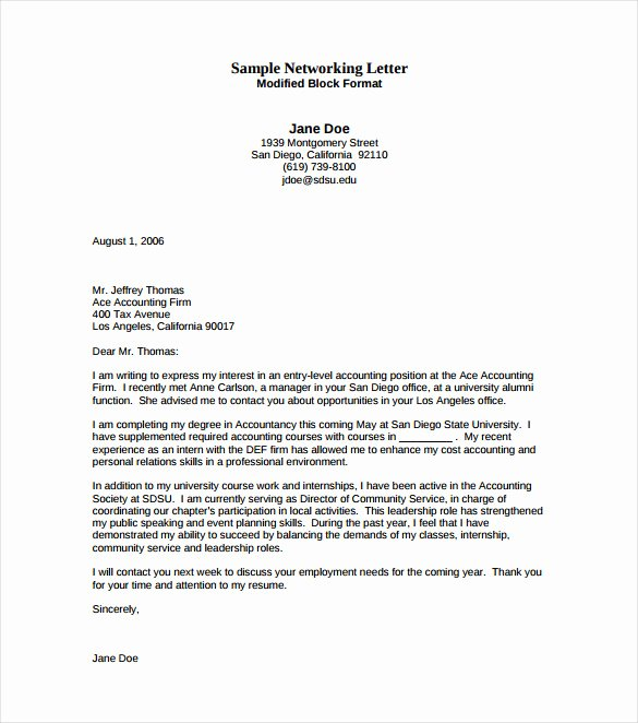Entry Level Cover Letters Examples Lovely Entry Level Cover Letter Template 11 Free Sample