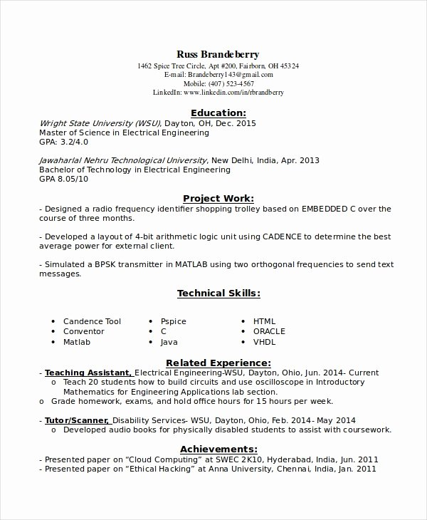 Entry Level Network Engineer Resume Awesome 9 Entry Level Resume Examples Pdf Doc
