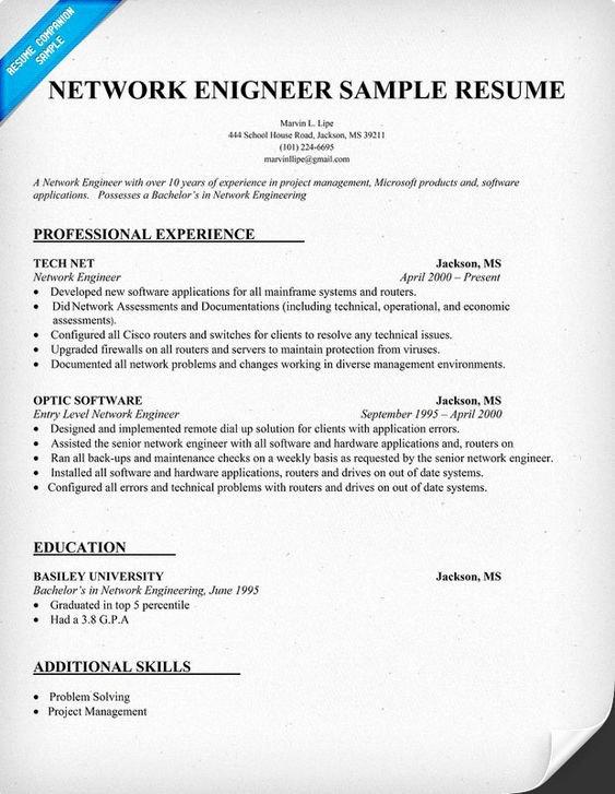 Entry Level Network Engineer Resume Fresh Entry Level Network Engineer Resume
