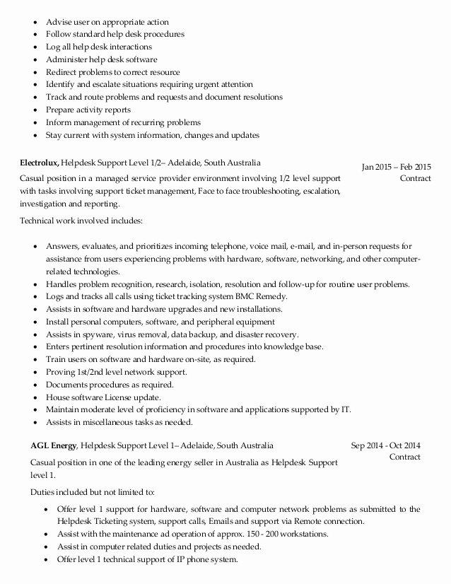Entry Level Network Engineer Resume Lovely Entry Level Desktop Support Resume Resume Ideas