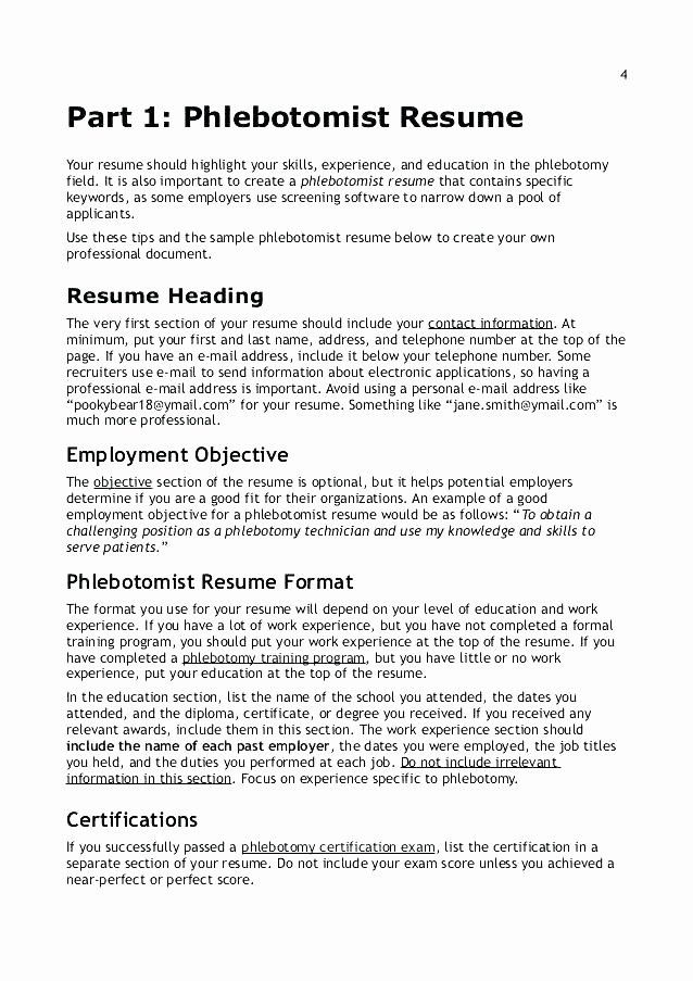Entry Level Phlebotomy Resume Sample Awesome 12 13 Certified Phlebotomist Resume
