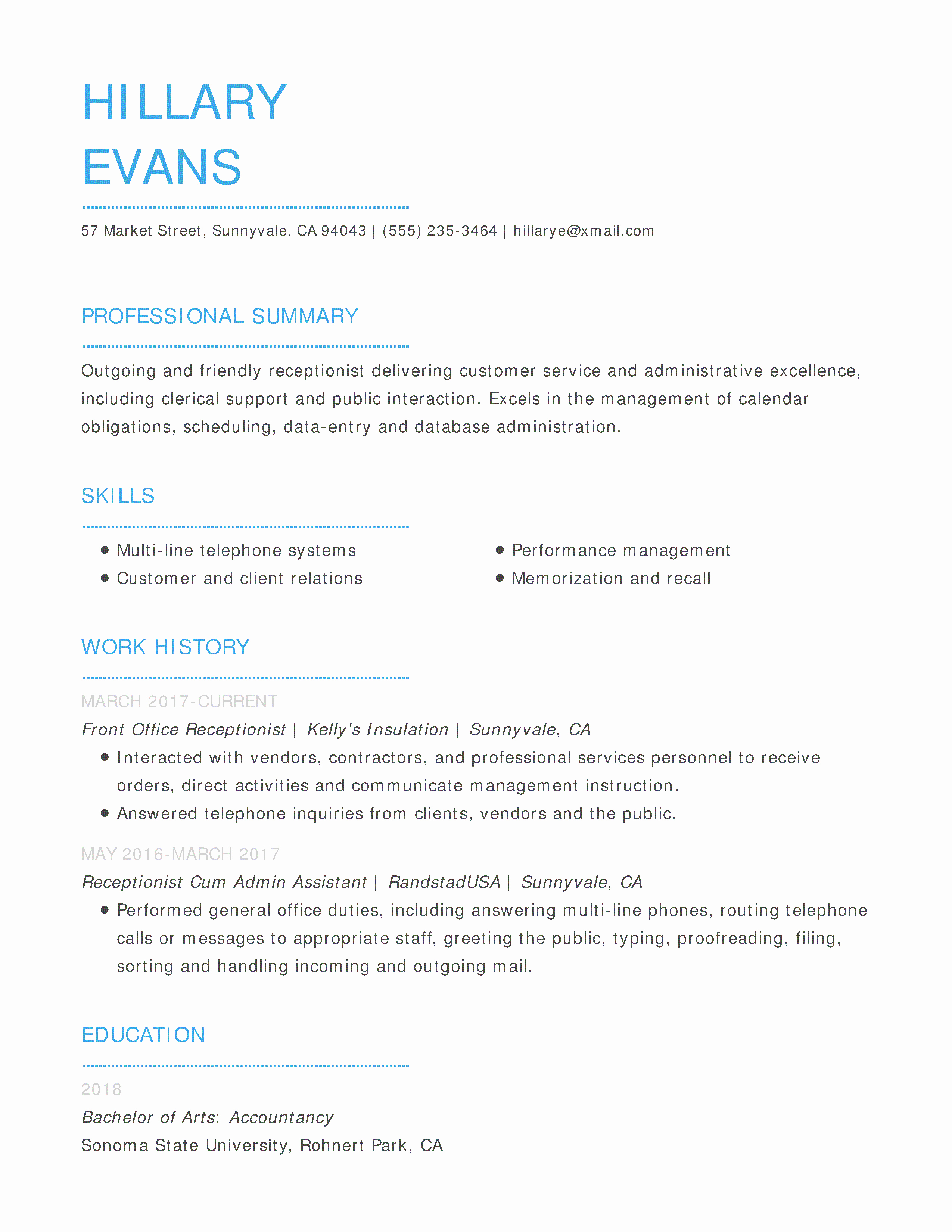 Entry Level Receptionist Resume Fresh Free Resume Templates Easy to Customize Line Templates